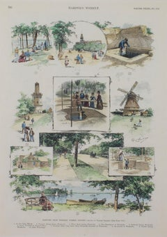 """Sketches from Western Summer Resorts Harper's Weekly,"" signed by Charles Graham"