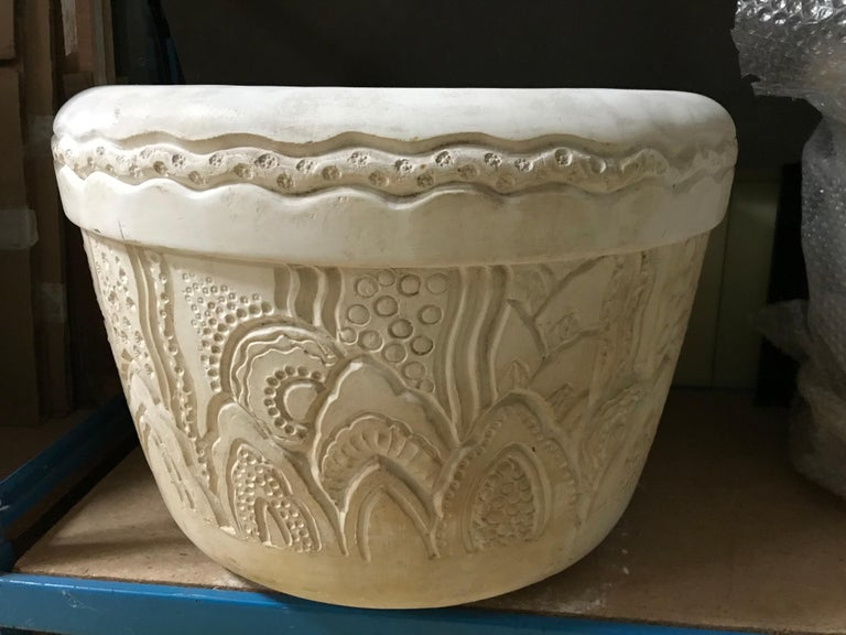 Art Deco Charles Hairon, Pair of Large Flower Pot, circa 1920 For Sale