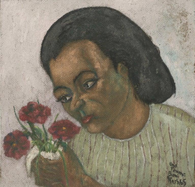 Une Femme - Painting by Charles Harris AKA Beni Kosh