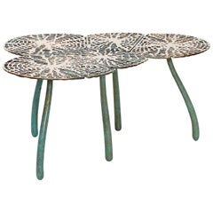 Charles Haupt, Tropism Mensa Foliorum, Bronze Limited Edition Lily Side Table
