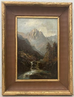 Charles Henry Harmon American West Mountain Landscape Oil Painting C.1900