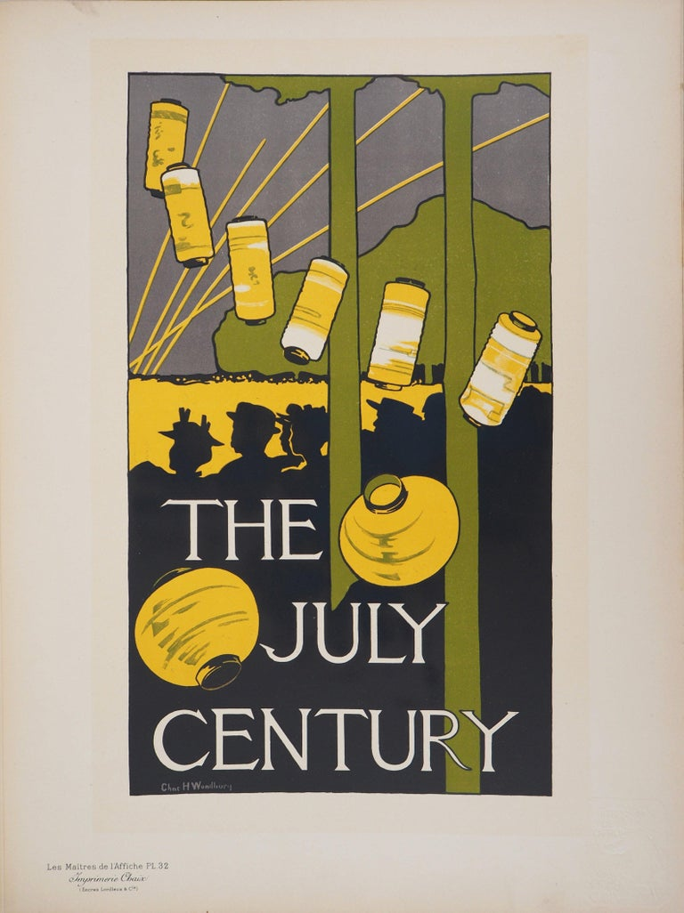 The July Century - Lithograph (Les Maîtres de l'Affiche), 1895 - Print by Charles Herbert Woodbury