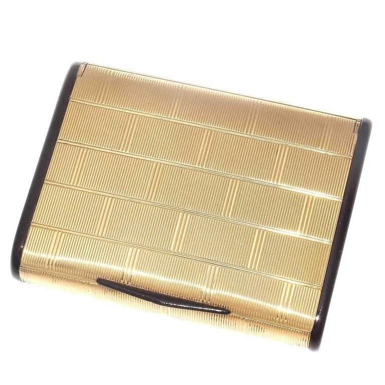 Charles Holl French Gold Onyx Box For Sale