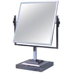 Charles Hollis Jones Attributed Chrome Vanity Mirror
