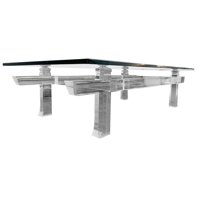 Charles Hollis Jones Box Cocktail Table Model CHJ 575 For Sale
