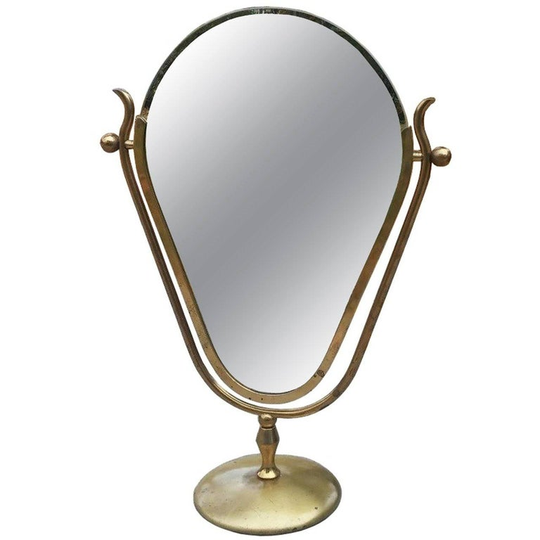 "Charles Hollis Jones ""Faces"" Vanity Mirror, Signed and Dated For Sale"