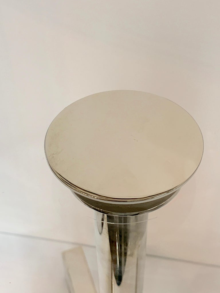 American Charles Hollis Jones Lucite Nickel Tripod Table For Sale