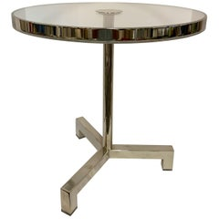 Charles Hollis Jones Lucite Nickel Tripod Table