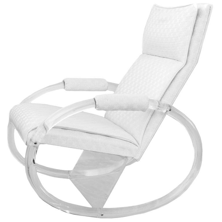 Charles Hollis Jones Lucite Rocker Rocking Chair