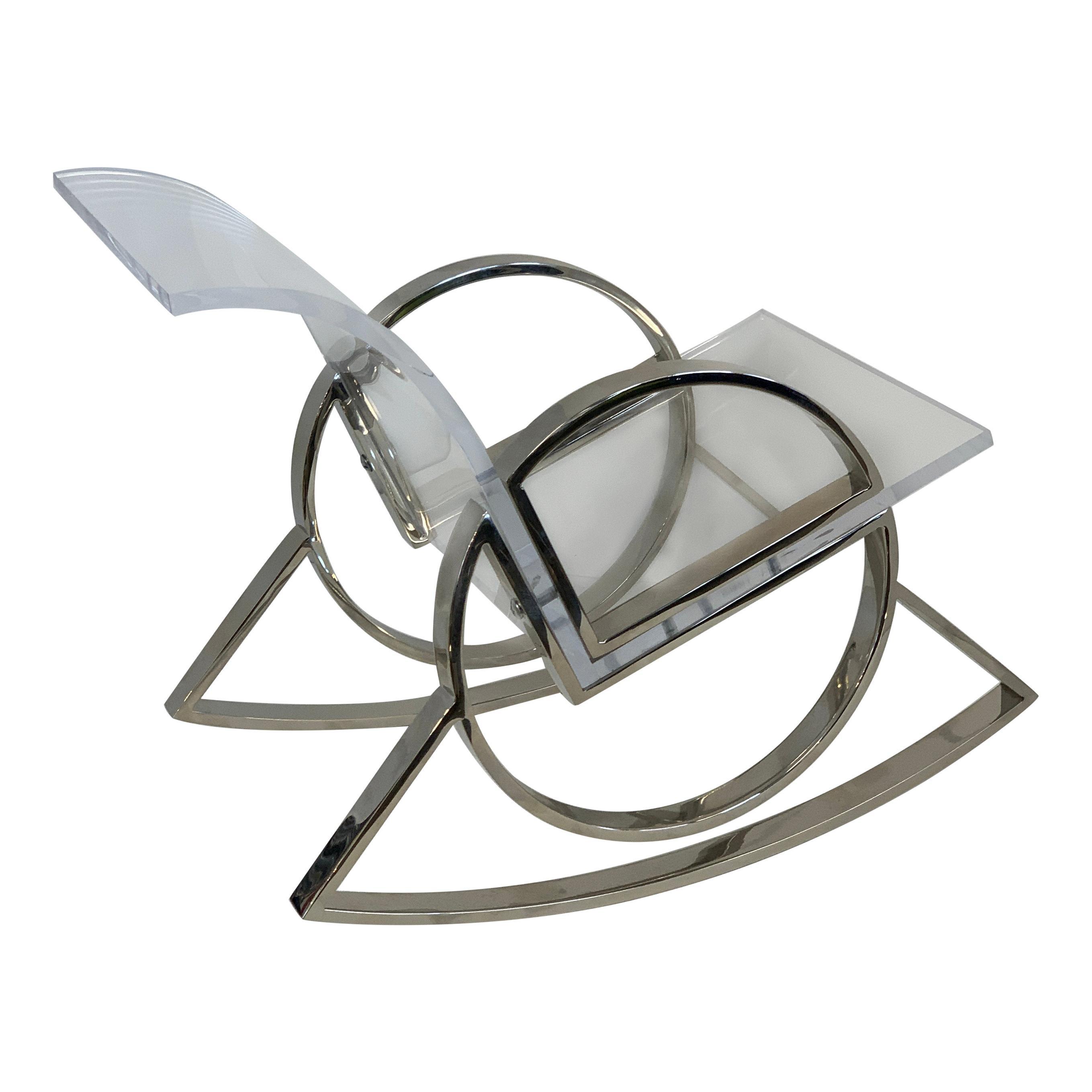Charles Hollis Jones Miniature O Line Rocking Chair