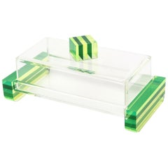 Charles Hollis Jones Style Lucite Two-Part Box Vintage