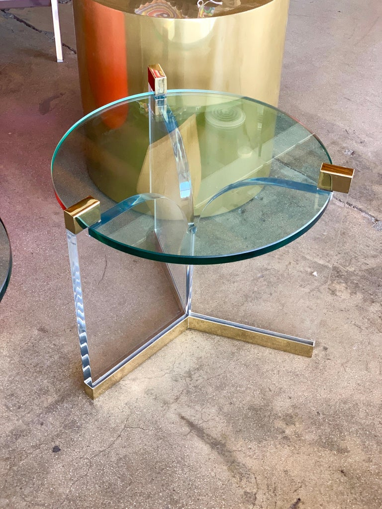 Machine-Made Charles Hollis Jones Trefoil Tables For Sale