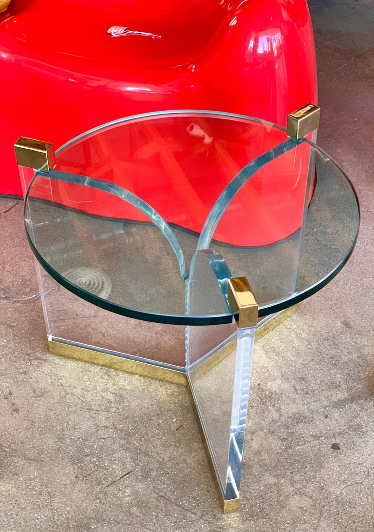Charles Hollis Jones Trefoil Tables In Good Condition For Sale In Palm Springs, CA
