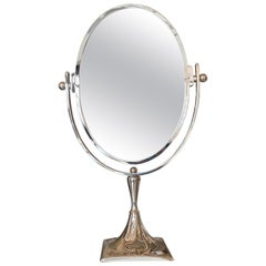 Charles Hollis Jones Vanity Mirror in Polished Nickel