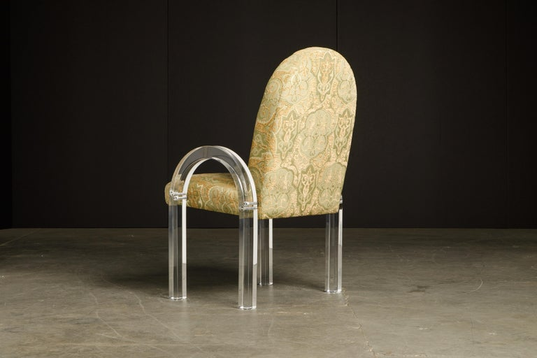Charles Hollis Jones Waterfall Lucite Dining Chairs, Set of Eight, circa 1970 For Sale 4