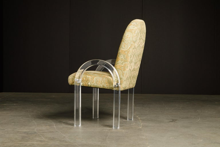 Charles Hollis Jones Waterfall Lucite Dining Chairs, Set of Eight, circa 1970 For Sale 5