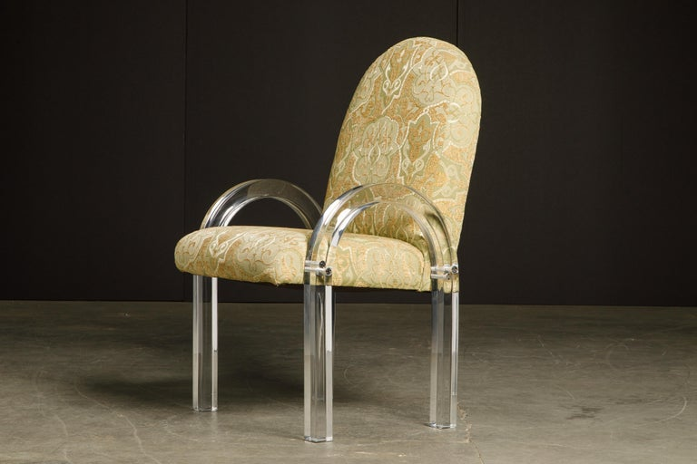 Charles Hollis Jones Waterfall Lucite Dining Chairs, Set of Eight, circa 1970 For Sale 7