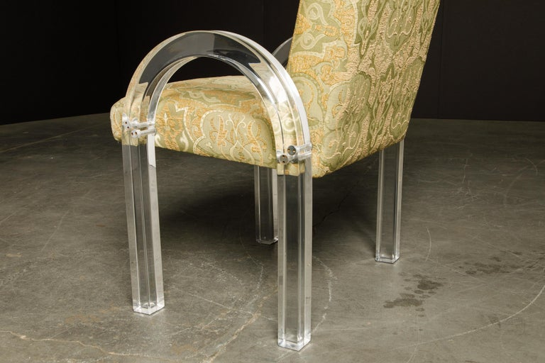 Charles Hollis Jones Waterfall Lucite Dining Chairs, Set of Eight, circa 1970 For Sale 11