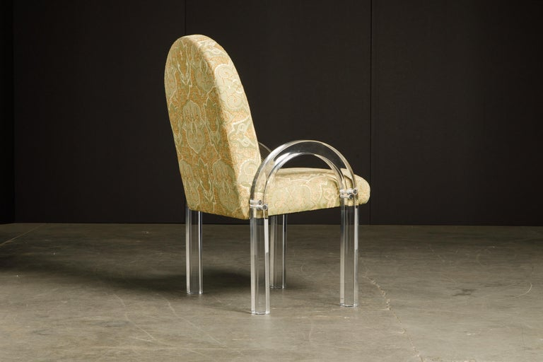 Charles Hollis Jones Waterfall Lucite Dining Chairs, Set of Eight, circa 1970 For Sale 1