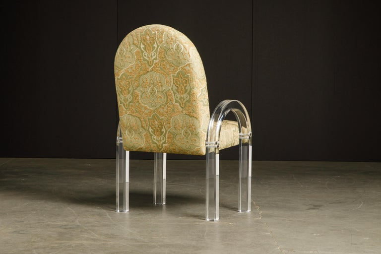 Charles Hollis Jones Waterfall Lucite Dining Chairs, Set of Eight, circa 1970 For Sale 2