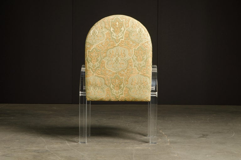 Charles Hollis Jones Waterfall Lucite Dining Chairs, Set of Eight, circa 1970 For Sale 3