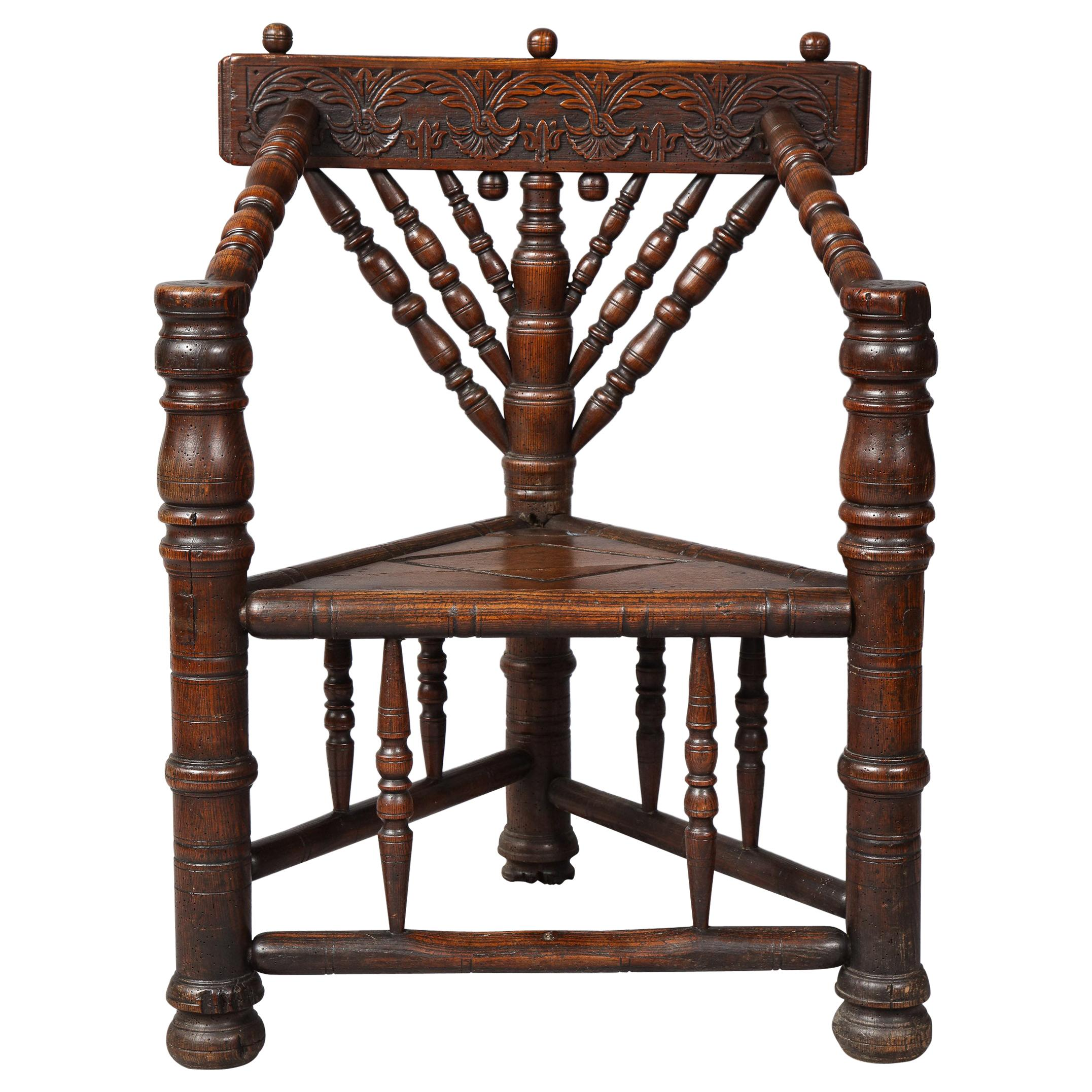 Charles I Three-Legged Turner's Chair