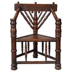 Charles I Three-Legged Turner's Chair