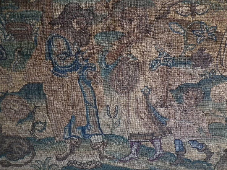 Charles II Antique Silk Work Embroidery Picture of Abraham For Sale 10