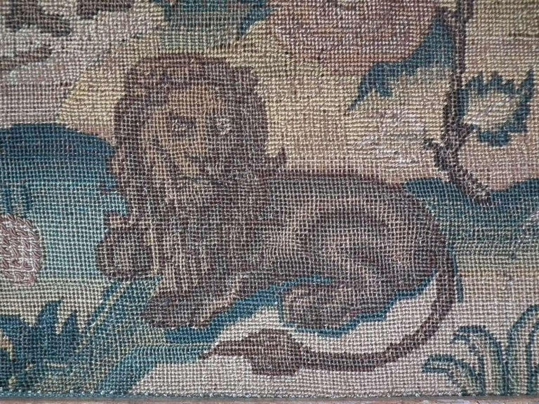 Charles II Antique Silk Work Embroidery Picture of Abraham For Sale 2
