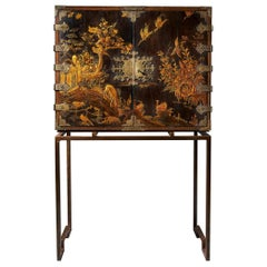 Charles II Japanned Cabinet Raised on a Contemporary Stand