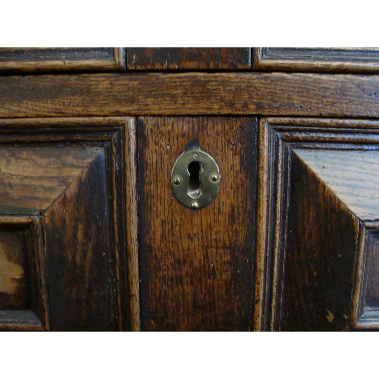 English Charles II Oak and Walnut Chest of Drawers For Sale