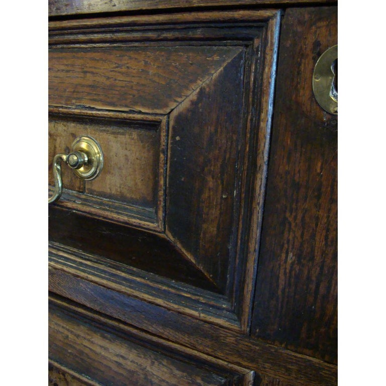 Late 17th Century Charles II Oak and Walnut Chest of Drawers For Sale