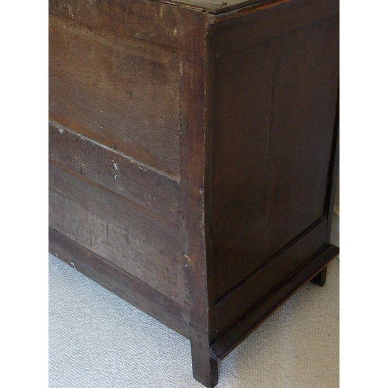 Charles II Oak and Walnut Chest of Drawers For Sale 3