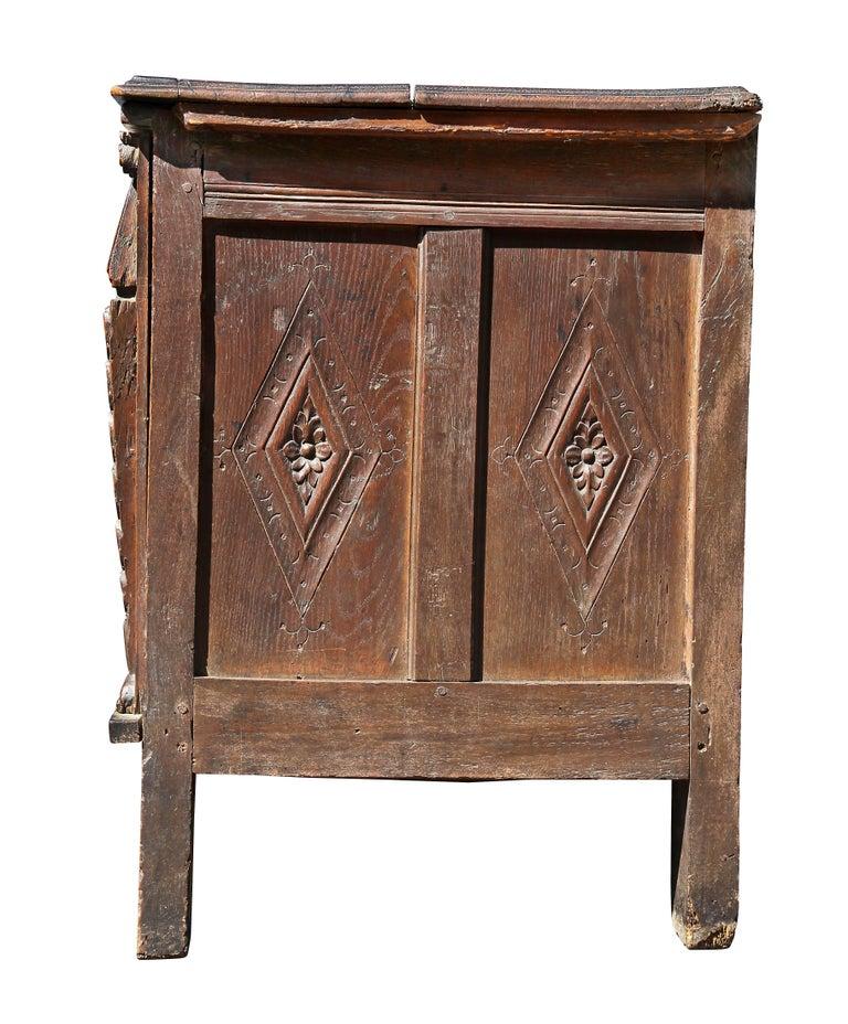 Charles II Oak Coffer For Sale 4