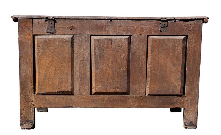 Charles II Oak Coffer For Sale 5