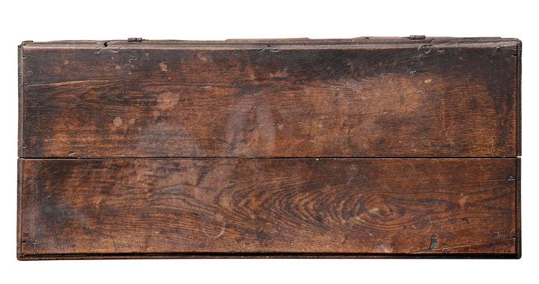 English Charles II Oak Coffer For Sale