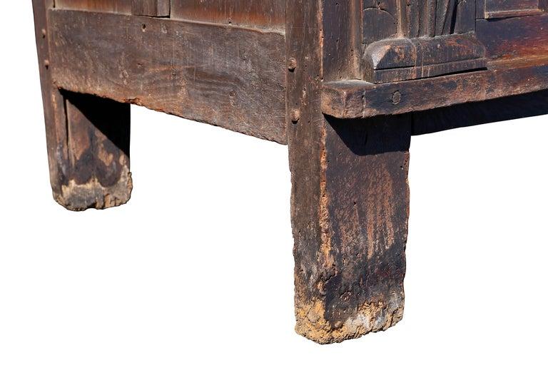 Charles II Oak Coffer For Sale 1
