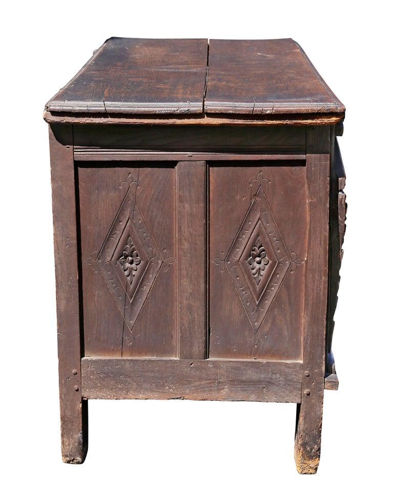 Charles II Oak Coffer For Sale 2