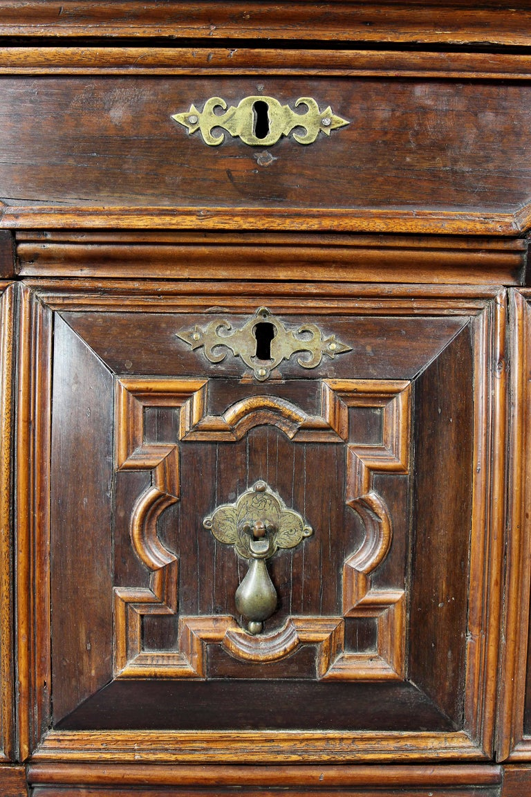 Charles II Palisander and Oak Chest of Drawers In Good Condition For Sale In Essex, MA