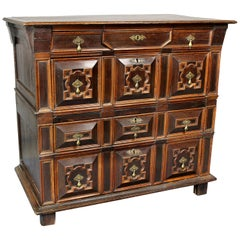 Charles II Palisander and Oak Chest of Drawers
