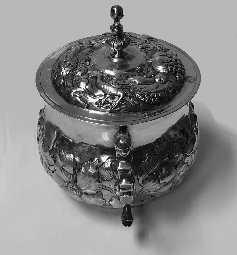 Charles II Silver Caudle Cup with Cover London, 1663 For Sale 1