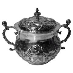 Charles II Silver Caudle Cup with Cover London, 1663