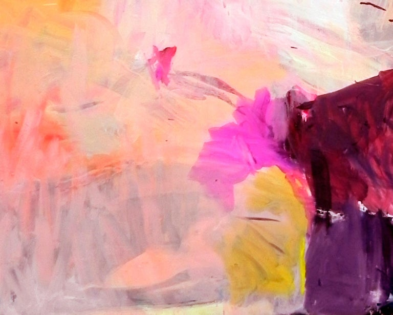 Gestural Landscape II - Contemporary, Light Colors, Pink, Purple, Abstract  1