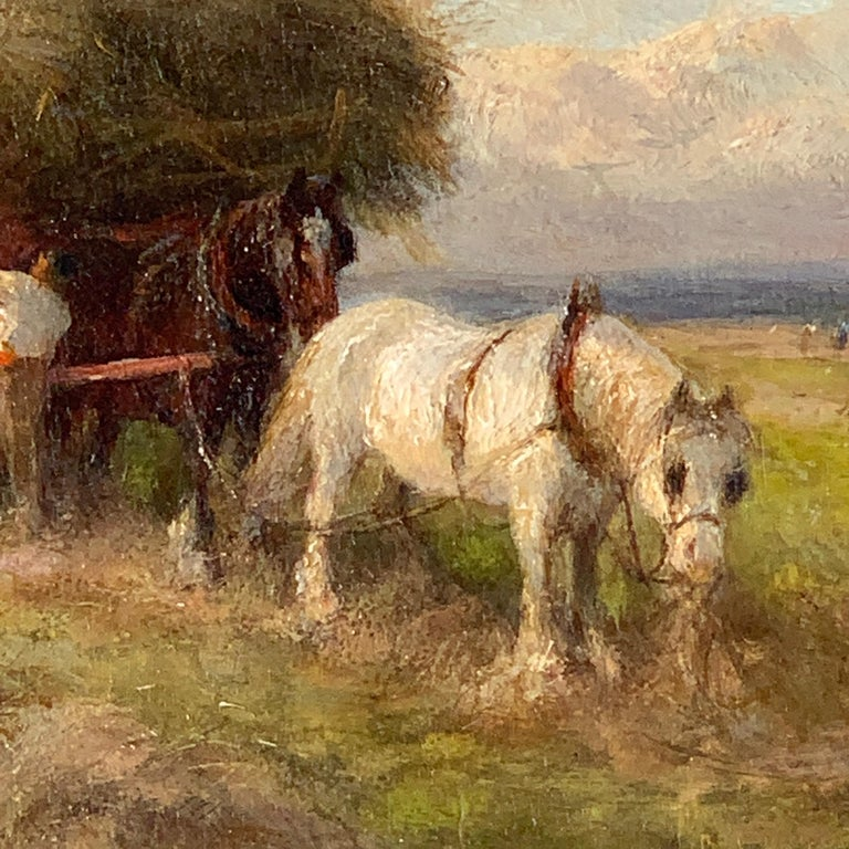 English 19th century Victorian Summertime Harvest landscape For Sale 2