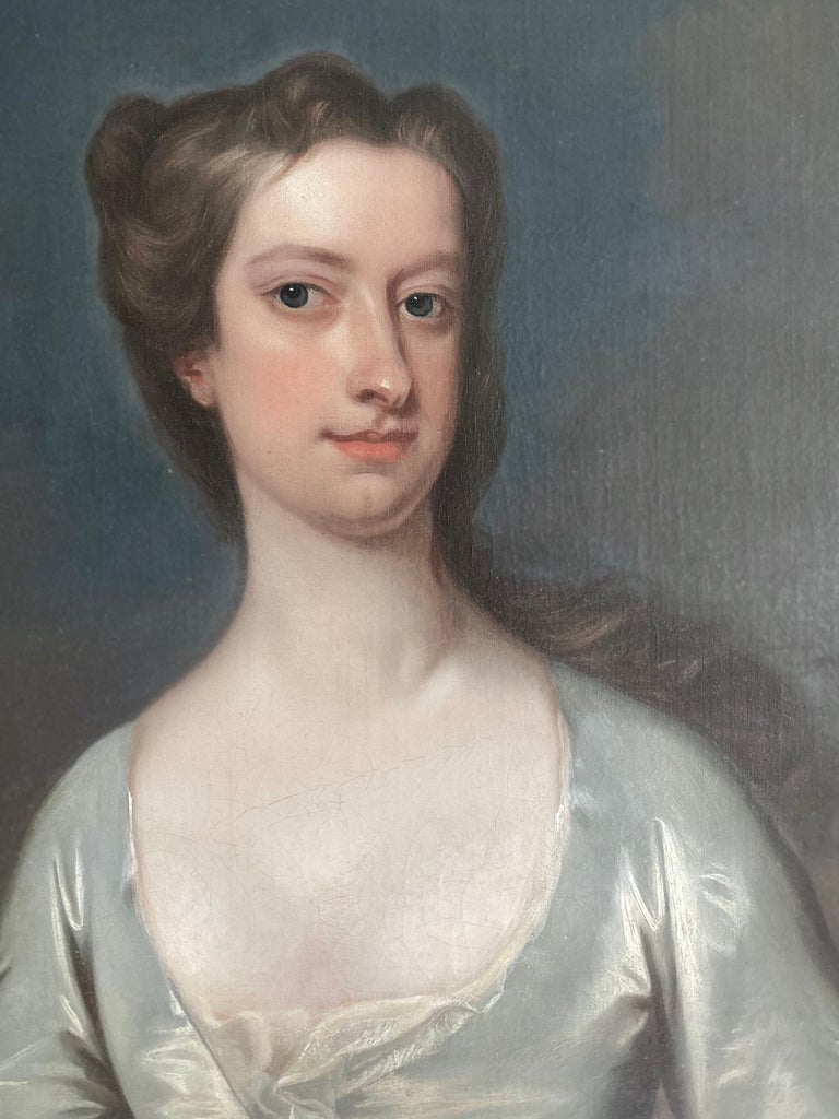English 18th century portrait of Henrietta Pelham-Holles, Duchess of Newcastle.  - Old Masters Painting by Charles Jervas