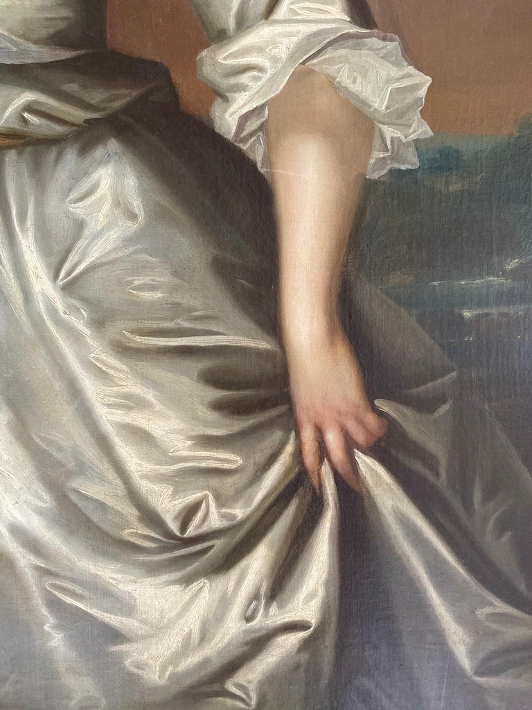 English 18th century portrait of Henrietta Pelham-Holles, Duchess of Newcastle.  - Gray Portrait Painting by Charles Jervas