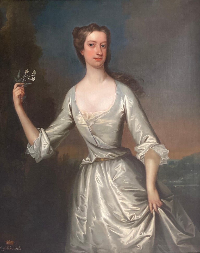 Charles Jervas Portrait Painting - English 18th century portrait of Henrietta Pelham-Holles, Duchess of Newcastle.