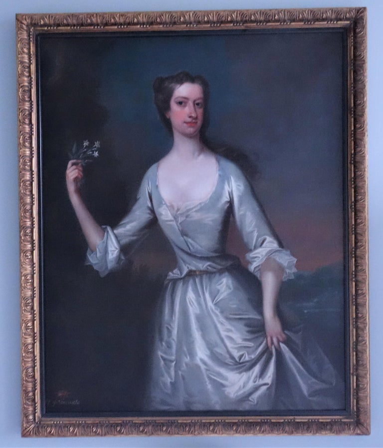 Portrait of Henrietta Pelham-Holles, Duchess of Newcastle. English, 18th century - Painting by Charles Jervas