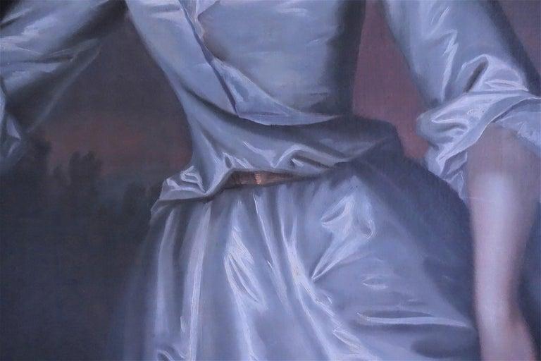 Portrait of Henrietta Pelham-Holles, Duchess of Newcastle. English, 18th century - Purple Portrait Painting by Charles Jervas