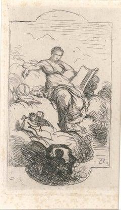 La Poésie - Original Etching by Charles Joshua Chaplin - Mid 19th Century
